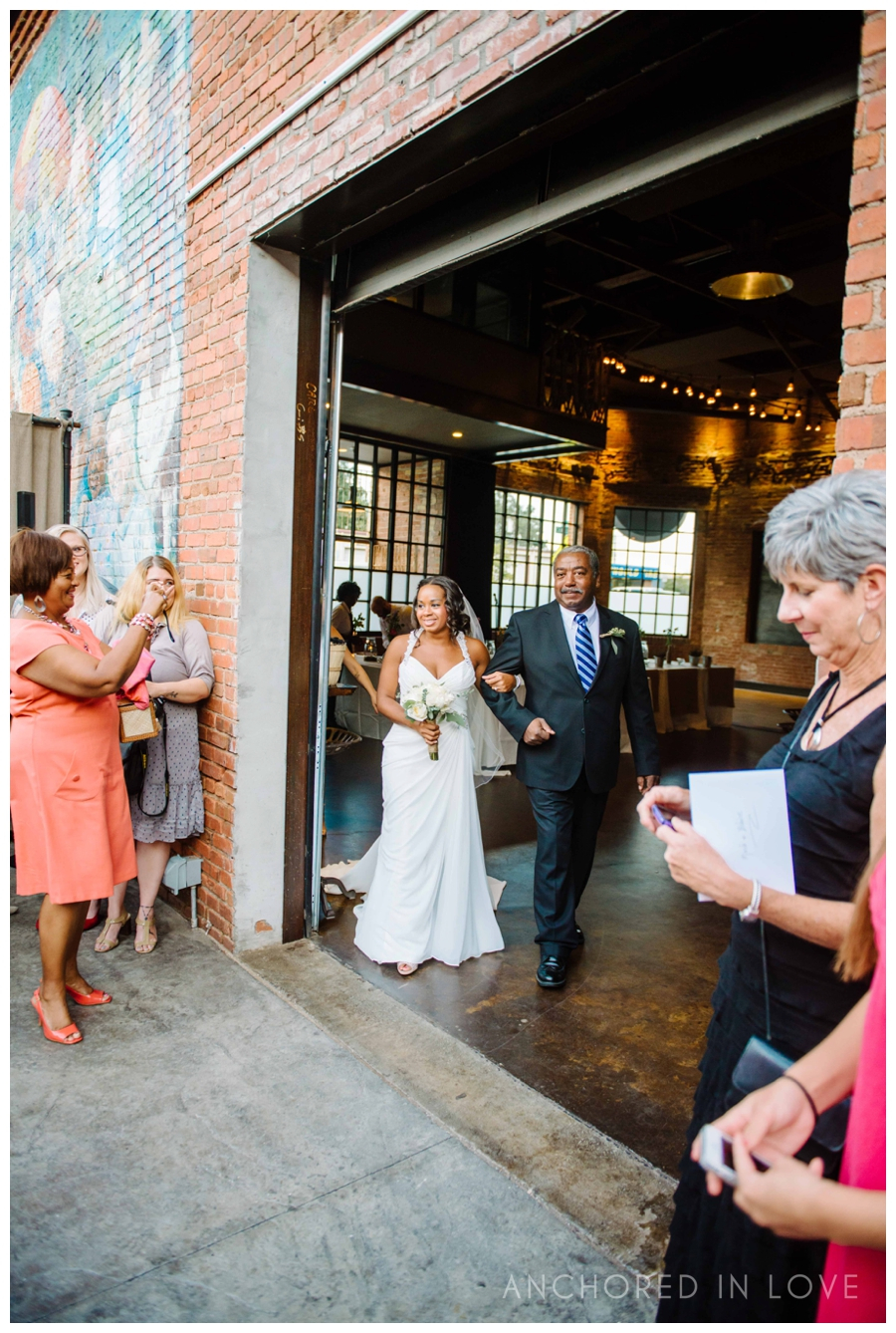 Make your entrance through our rolling garage door and host your ceremony outside!