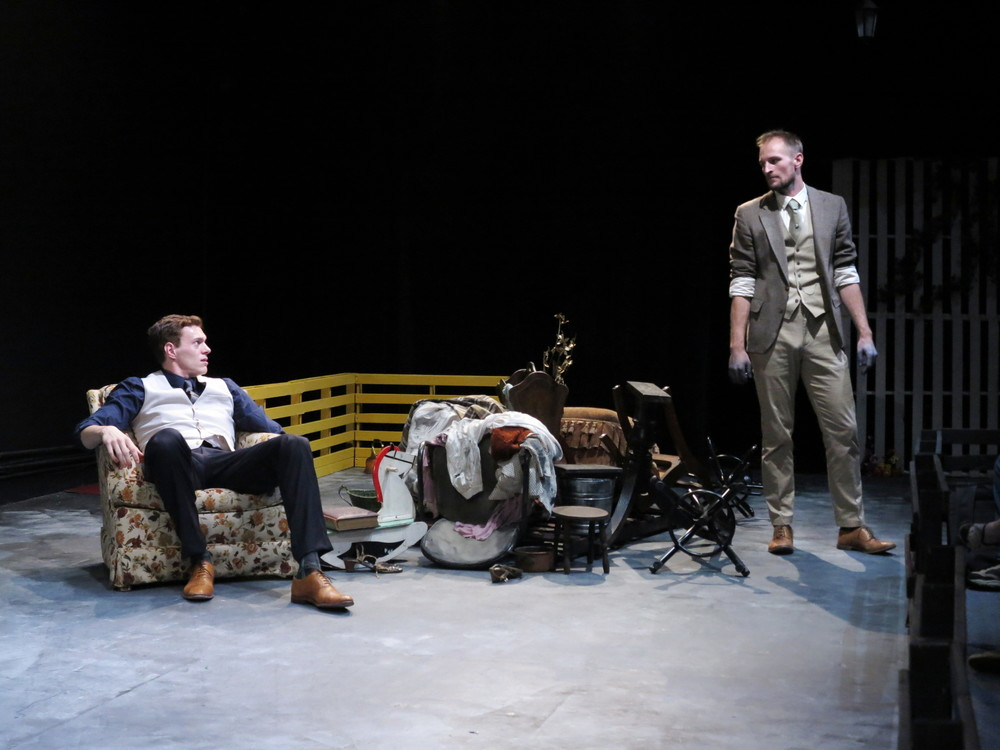 Toby MacDonald and Jason Paul Tate in  Burnt House  I  Photo Credit: Jonathan Slaff
