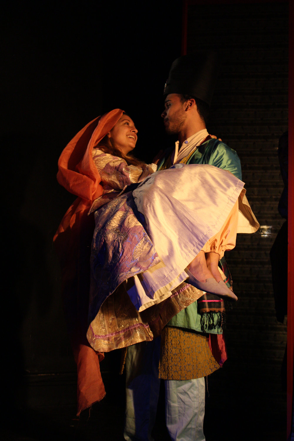 Jaya Tripathi & Marcos Sotomayor in  Abu Casem's Slippers  | Photo credit: Katie Leffen