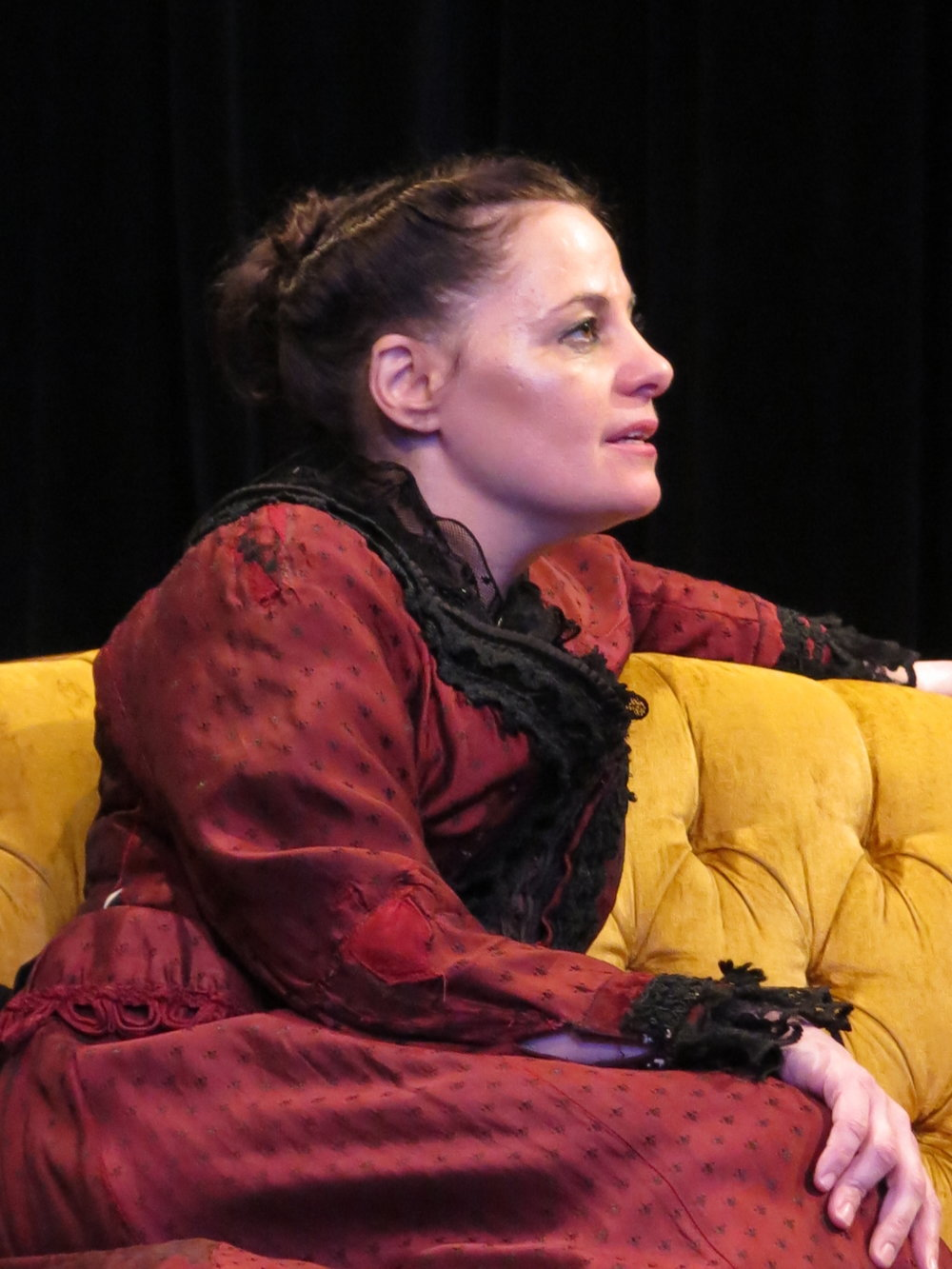 "Natalie Menna as The Wife  in ""The Father"" by August Strindberg, Photo by Jonathan Slaff."