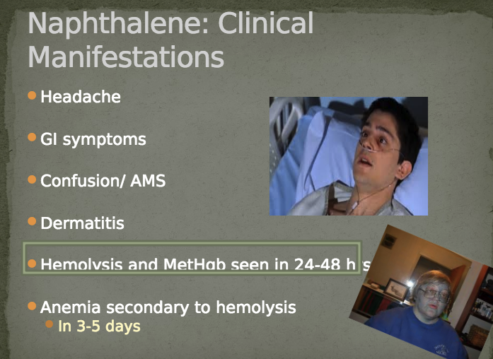Treat with supportive care in general. If hemolysis is severe, transfuse as necessary. Treat methemoglobinemia with methylene blue. Boards tip: If you are given a pulse ox around 85% think methemoglobinemia. Methemoglobinemia affects the way the pulse ox reads the lightwaves and causes it to read usually around 85%.
