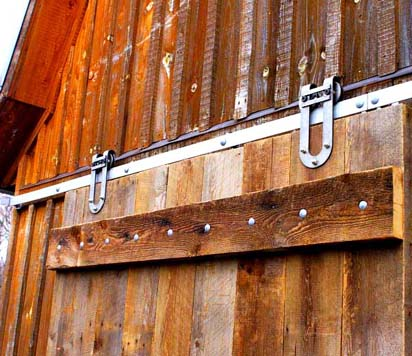A new door seamlessly transforms an old barn.