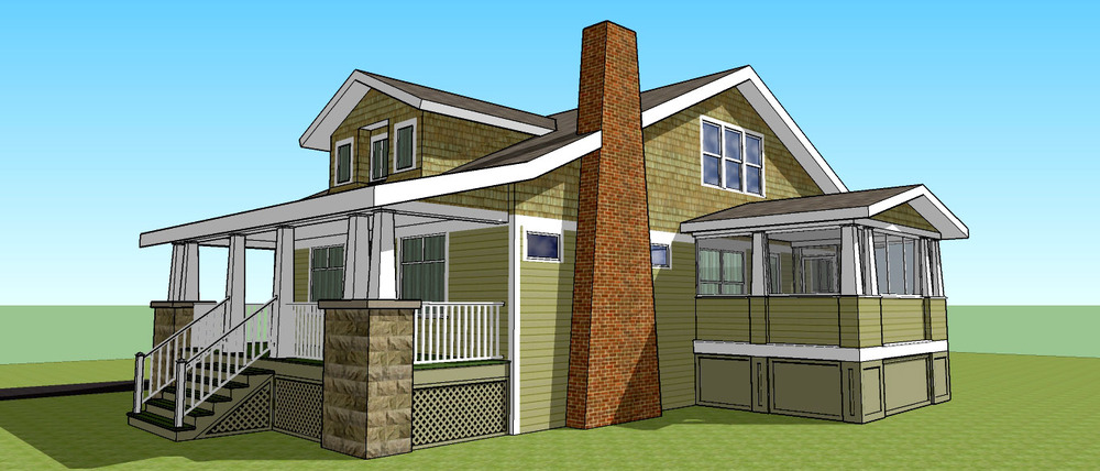 Architectural models take the guess work out of imaging your new addition.  (All renderings by Vincent Randazzese exclusively for Roost Builders.)