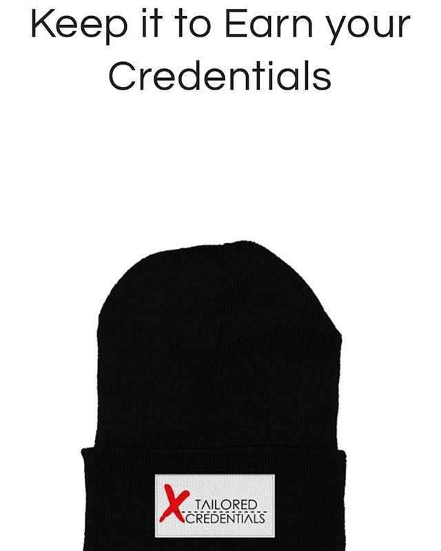 Only a few left get yours now while you still have time @tailorcredents https://www.apliiq.com/campaigns/Keep-it-to-Earn-your-Credentials-
