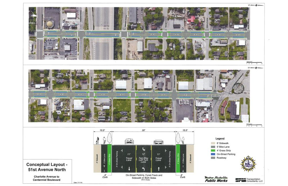At the July Nations Neighborhood Meeting a road diet was announced by council woman Mary Carolyn Roberts. It shows a plan similar to one TURBO tackled back in 2014. We are happy to have facilitated a conversation that has brought such progress!