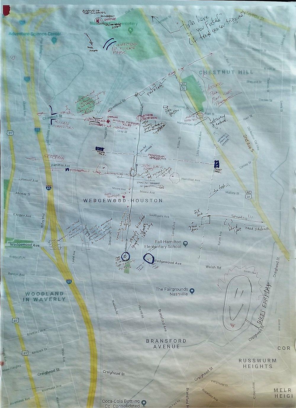 Map of Wedgewood-Houston community feedback