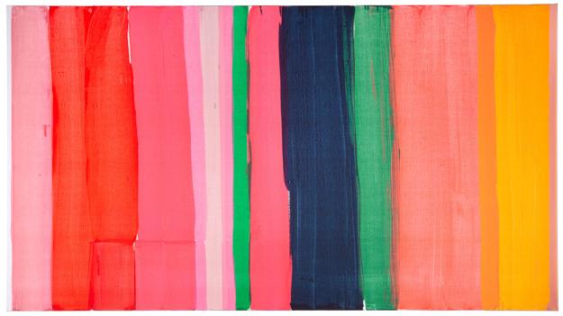 Evan Fugazzi,  Loom , acrylic on linen, 43.25 x 70.875 inches, image:  http://www.grossmccleaf.com/