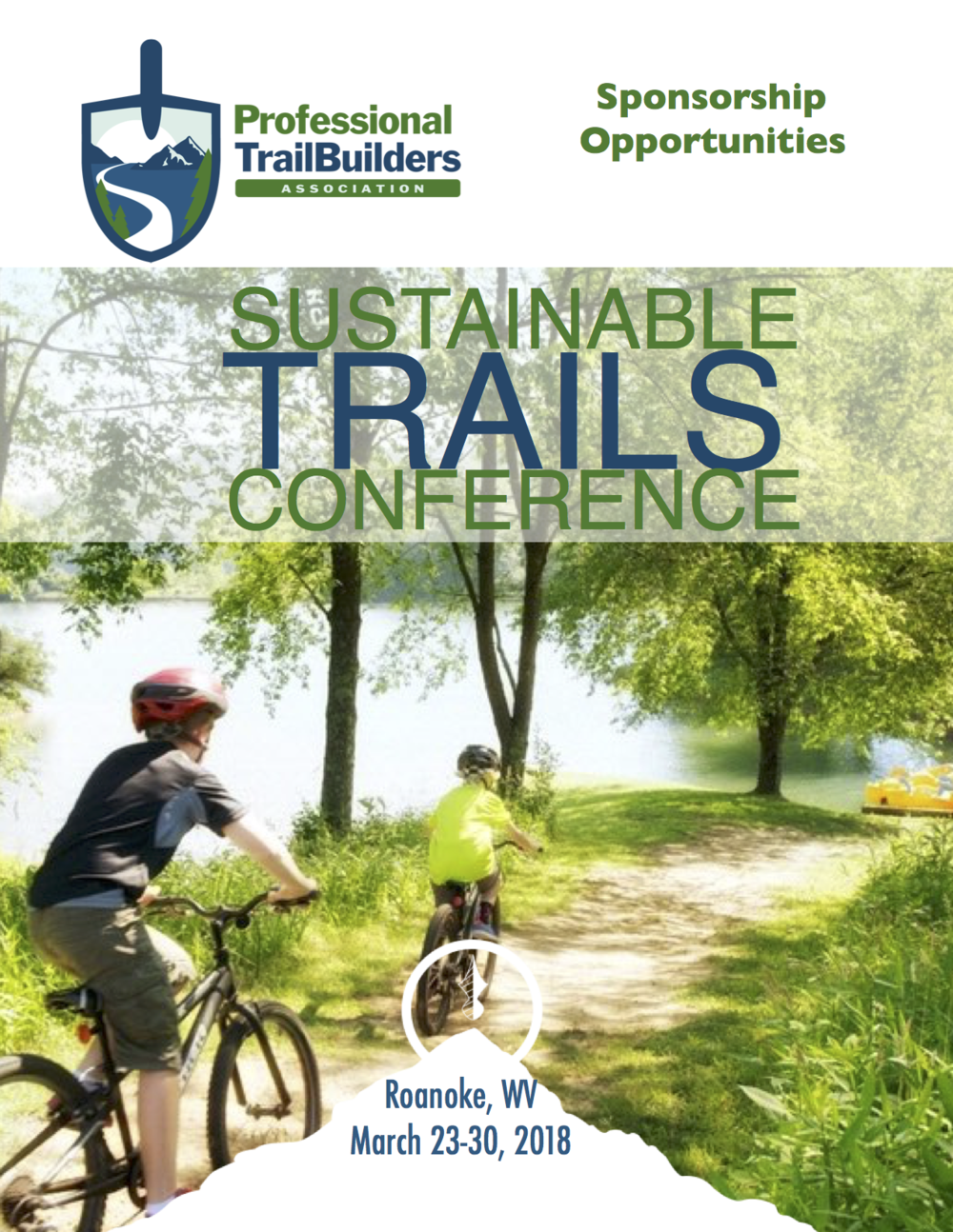 Sponsor the 2018 Sustainable Trails Conference - Don't miss this opportunity to build your brand and introduce your product, service, and company to the largest gathering of trail professionals in 2018! Get noticed by 225-325 attendees as a sponsor of the 2018 PTBA Sustainable Trails Conference! PTBA provides a variety of highly visible sponsorship opportunities and a robust package of benefits to each participating sponsor.