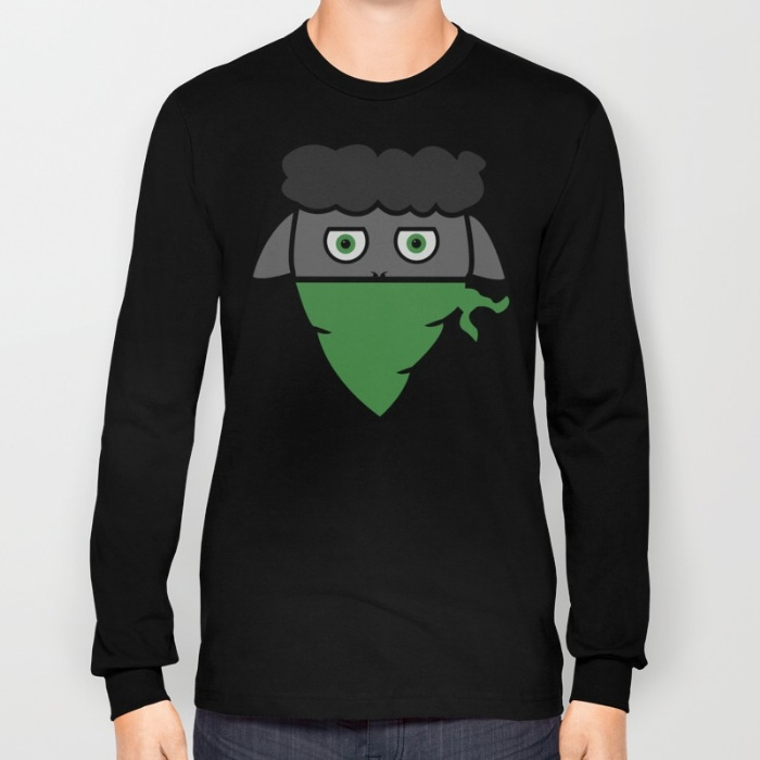 Classic Black Sheep Long T - Unisex long sleeve T with the Classic Black Sheep design28.00