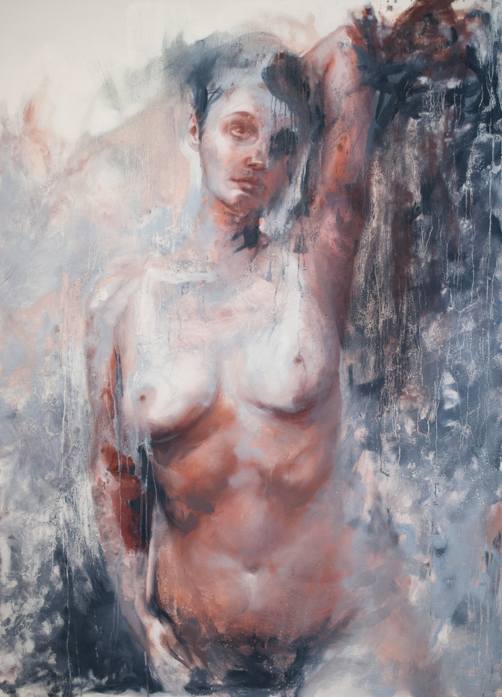 Blue Nude  Oil on canvas  60x44 inches  2016
