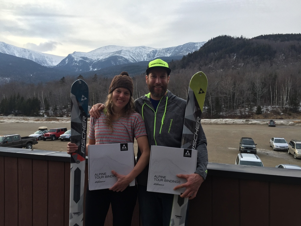Hilary McCloy and I took the Elite Category. New skis and bindings!