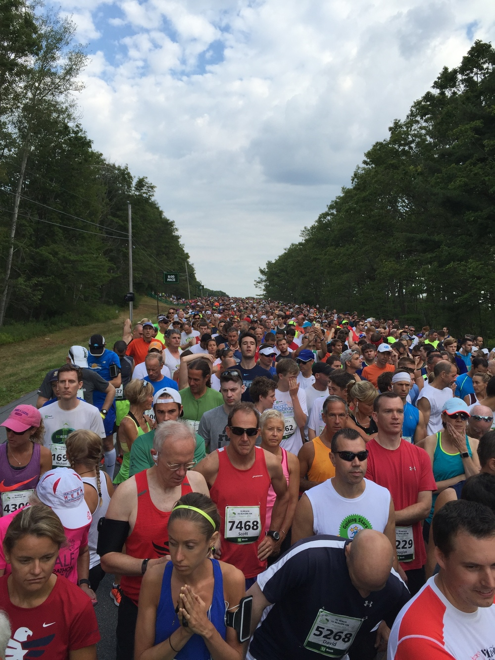 TD Beach to Beacon 10k start madness!