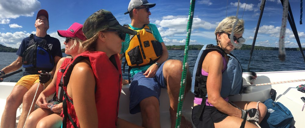 Sailing on Lake Sunapee.