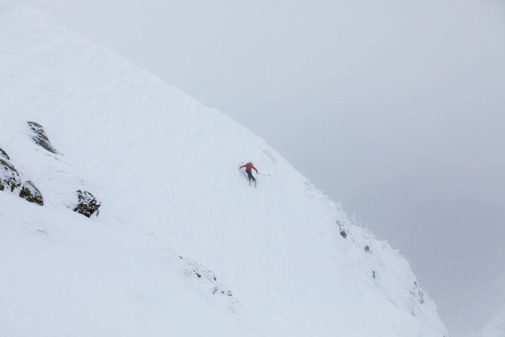 Andrew Drummond Skiing Left Gully