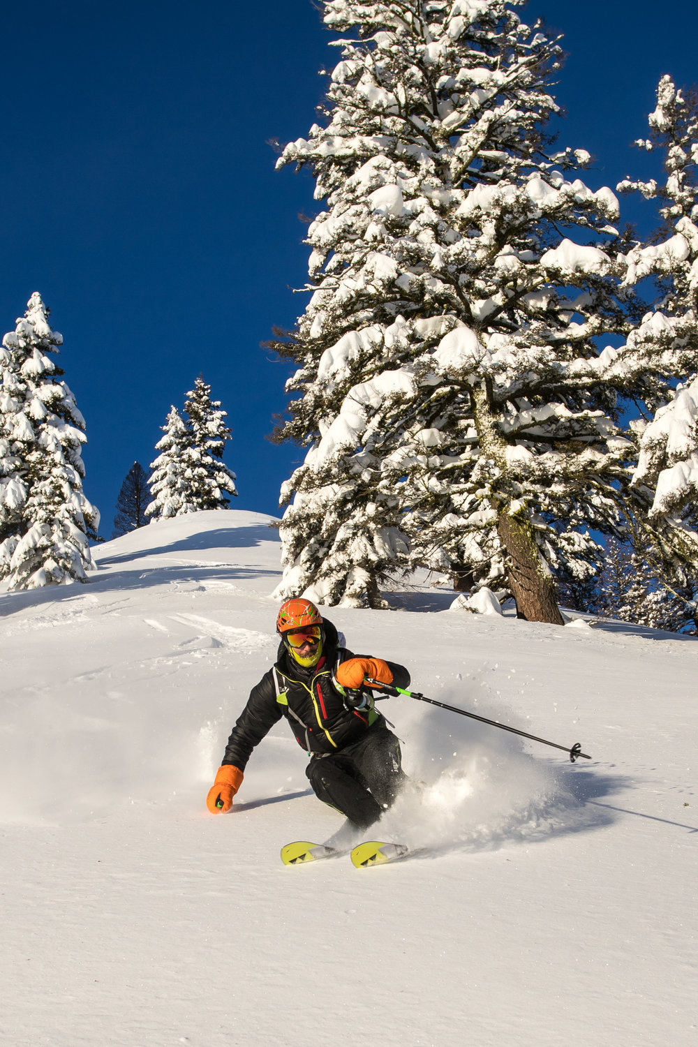 Andrew Drummond Skiing Mores Creek Summit