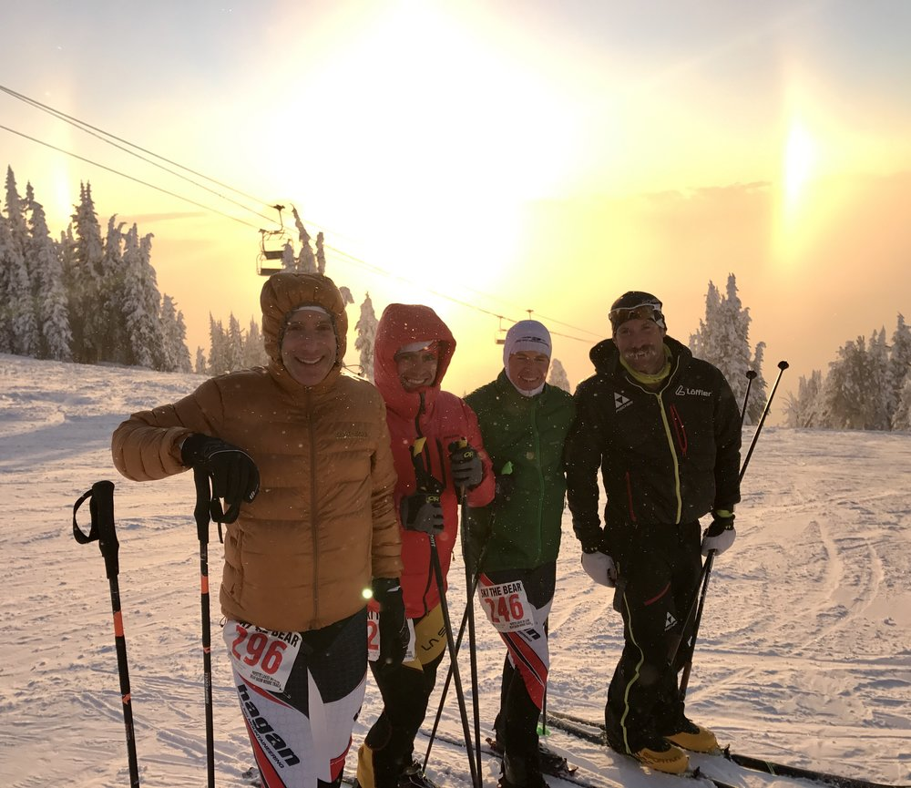 The East Coast SkiMo Team: Shefftz, Nichols, Arnold, Drummond