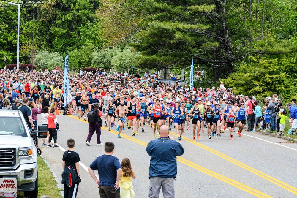 Redhook 5k Start. Photo: Maine Running Photos