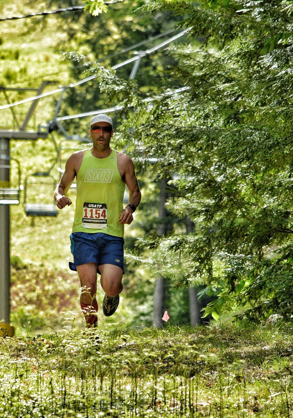 Grinding out the Cranmore Mountain Race. Photo:  Jason Denver