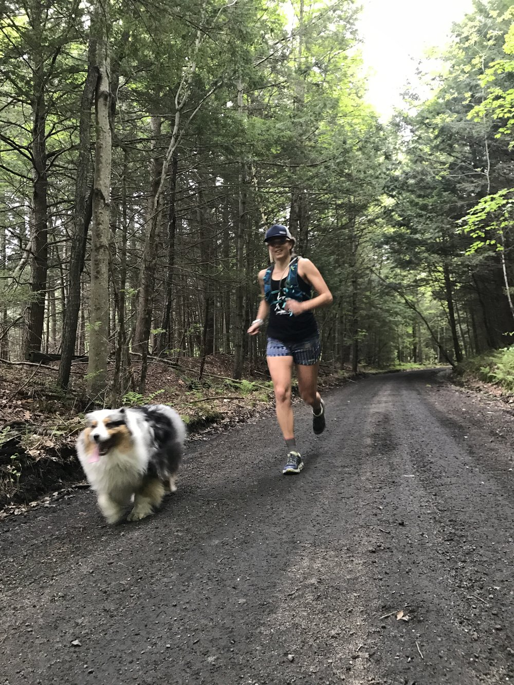 Squall and Hilary on the Newport Rail Trail