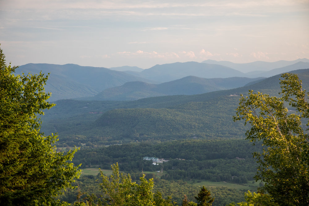 View from the summit of Black Mountain to the southeast.