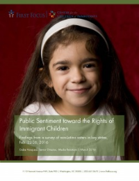 Public Sentiment Toward the Rights of Immigrant Children: A Poll by First Focus