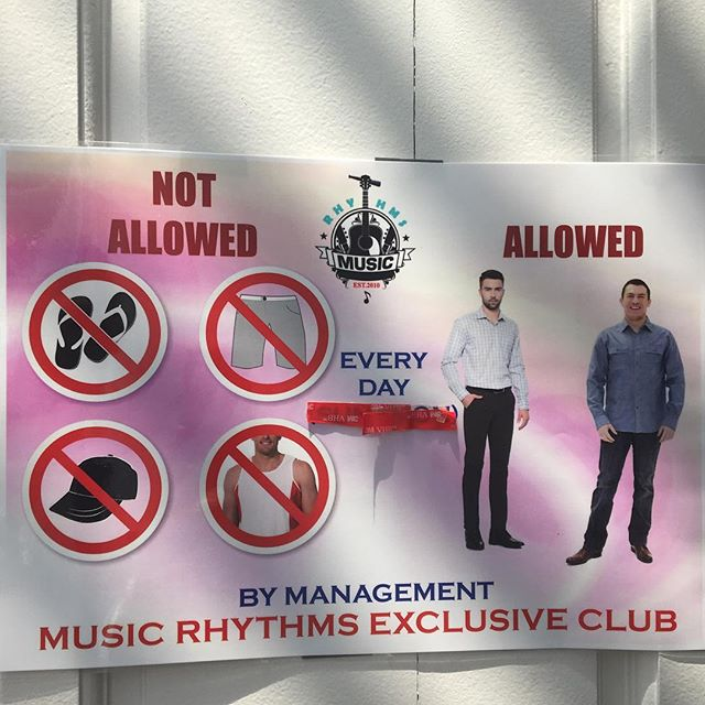If you're gonna stay at a hotel with a night club attached, make sure it's a smart/casual type of one https://youtu.be/HQa_vjHVSEk