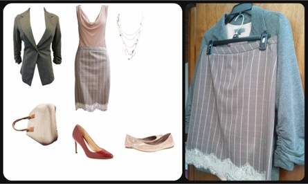 Two examples showing my client's packing list and the corresponding outfits laid out IRL.