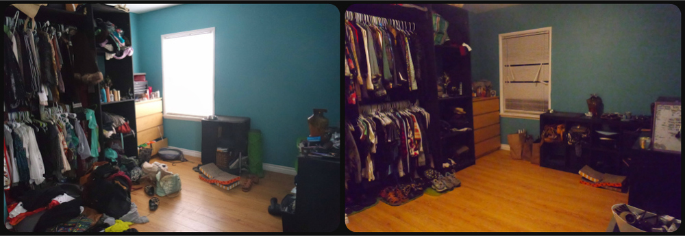 Before (left)and After (right) - Closet 1