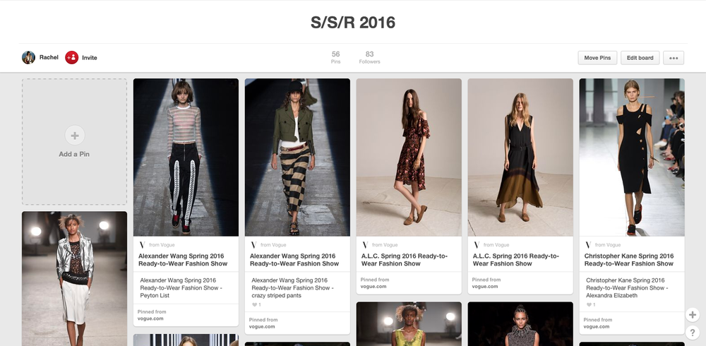 Click through to my Spring/Summer/Resort board.