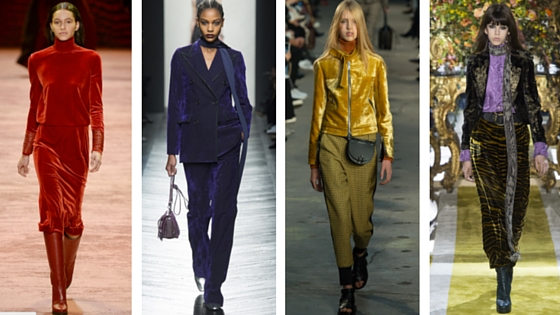 From left to right: Akris, Bottega Veneta, 3.1 Phillip Lim, Roberto Cavalli (via   Vogue  )