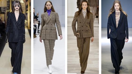 From Left to Right: Max Mara, Balenciaga, Ralph Lauren, Tibi via   Vogue