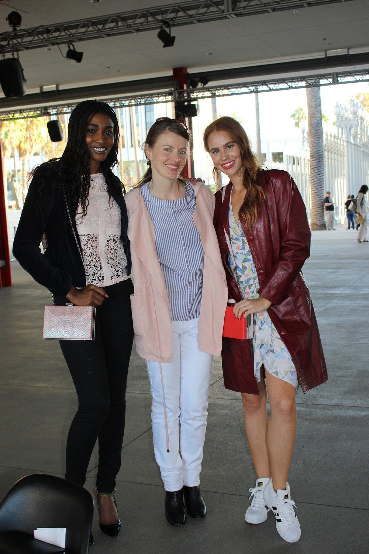 The Boss and her killer models,  Kelsey Evenson  and Vanessa E'voen (@vannytvoen)