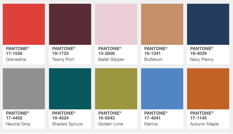 Pantone's Fall 2017 Color Report