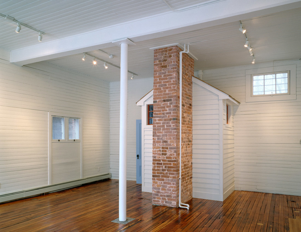 Renovated office space in 1870s carriage house.