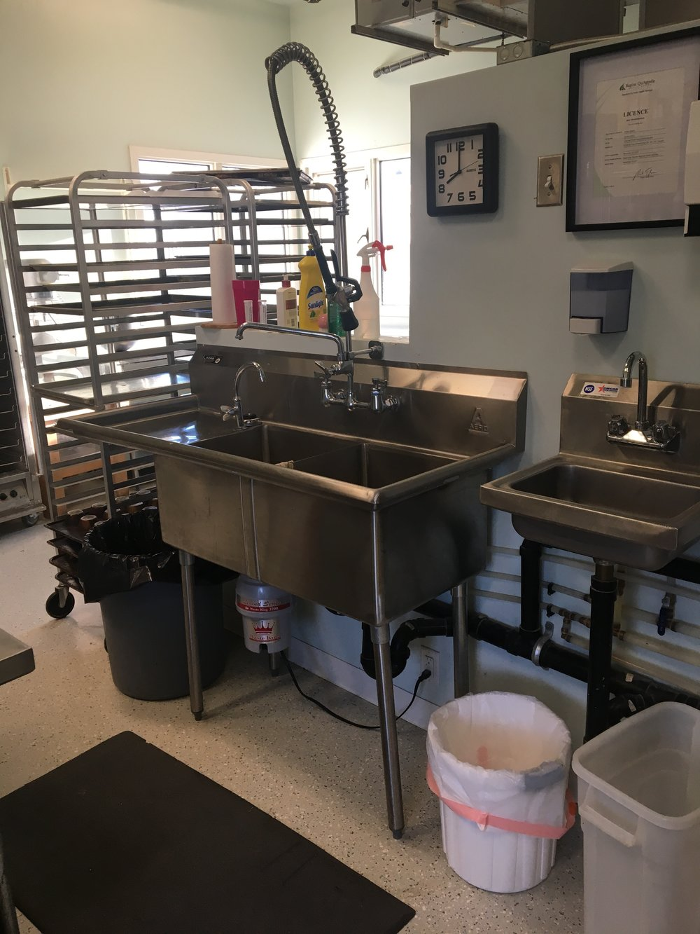 Hand Wash Sink & Prep Sink
