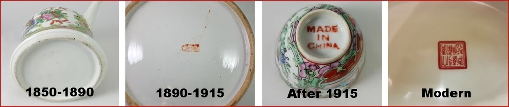how to date rose medallion porcelain