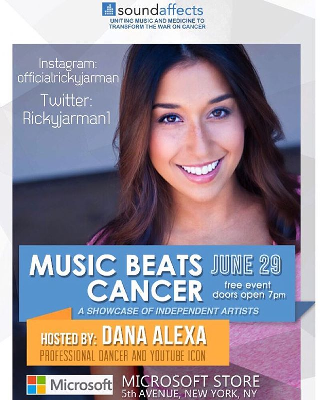 Repost from @officialrickyjarman via #rapidrepost: Hey guys! I NEED YOUR HELP! As an #ambassador for Sound Affects, I currently have the opportunity to both support a great cause & have the chance to possibly perform at MicroSoft's headquarters June 29th! Please click the link to donate to the cause: http://soundaffects.org/artist/ricky-jarman/ 🙏 This is a great platform to be a part of and helps save lives. 5$, 10$, ANYTHING HELPS!! brick by brick we can #makeAdifference ! 😊 **DETAILS: Sound Affects has recently teamed up with Microsoft to establish a showcase for our independent artists, called #Music Beats #Cancer 🎧 The event will take place on the community stage at the Microsoft Flagship Store on Fifth Avenue in New York City on Wednesday, June 29. Artists must Raise a minimum of $1000 on our crowdfunding portal to be eligible. The TOP THREE artist who have raised the most funds in support of Sound Affects new breast cancer campaign challenge, will be selected to perform at the Music Beats Cancer event. #charity