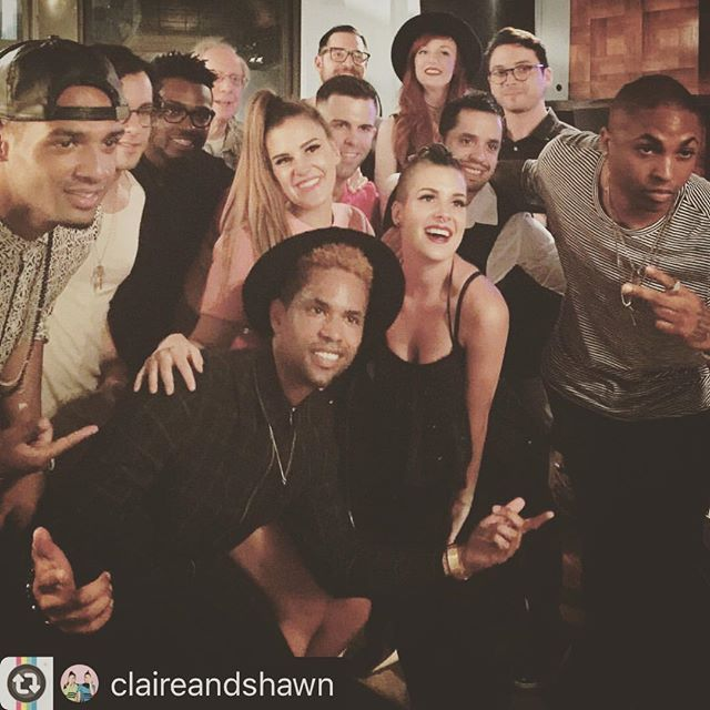 #Reposting @claireandshawn with @instarepost_app -- A huge thanks to our friends @officialrickyjarman @samharmonix @cory.d.foster for inviting us to the @timorrislane listening party for his new EP #bigcitylife at @mirrortone Such a fun night! #nyc #listeningparty #shawnandclaire #twinning
