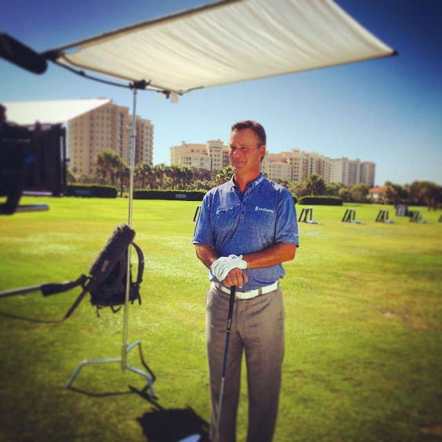 On Set with Chis DiMarco #hammockdunes #golfslotmachine @davidcliffordphotography