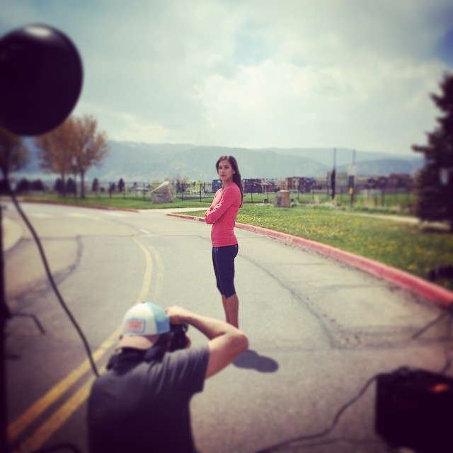 Shooting with Skechers and Kara Goucher #skechers #karagoucher #running @Skechers @davidcliffordphotography