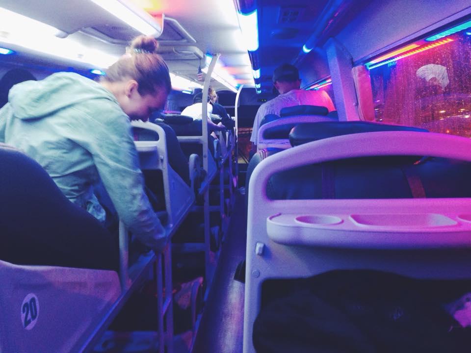 Aboard my very first 15hr overnight bus (Hanoi-Hue)