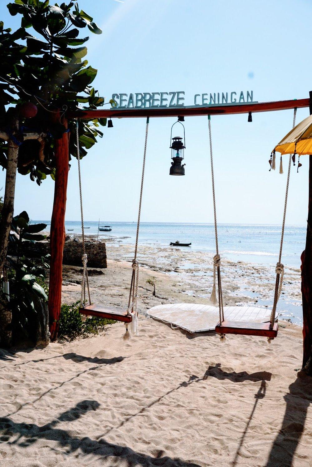 Swings at Seabreeze Ceningan