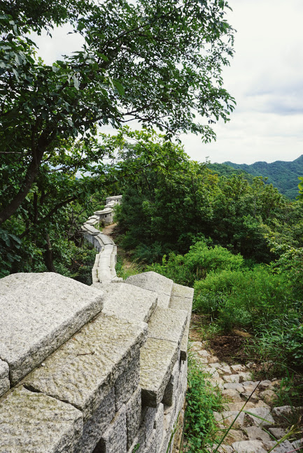 the fortress wall in bukhansan national park