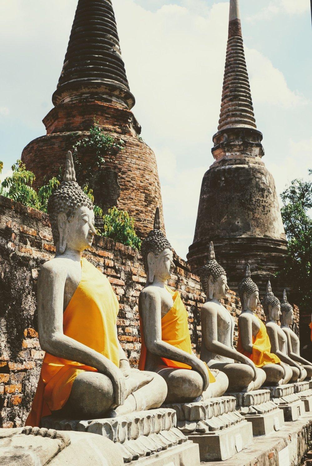 Visiting Wat Yai Chai Mongkhon in Ayutthaya, Thailand
