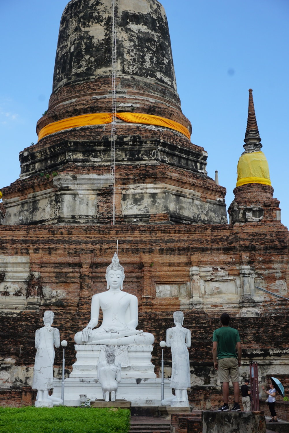 Exploring temples on a day trip to Ayutthaya, Thailand