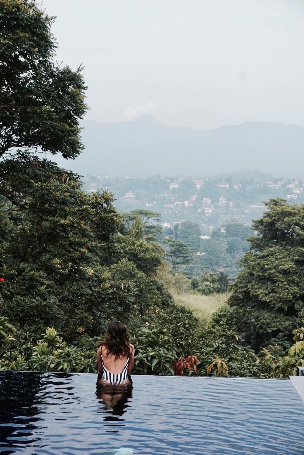 Infinity Pool at Theva Residency Hotel In Kandy, Sri Lanka