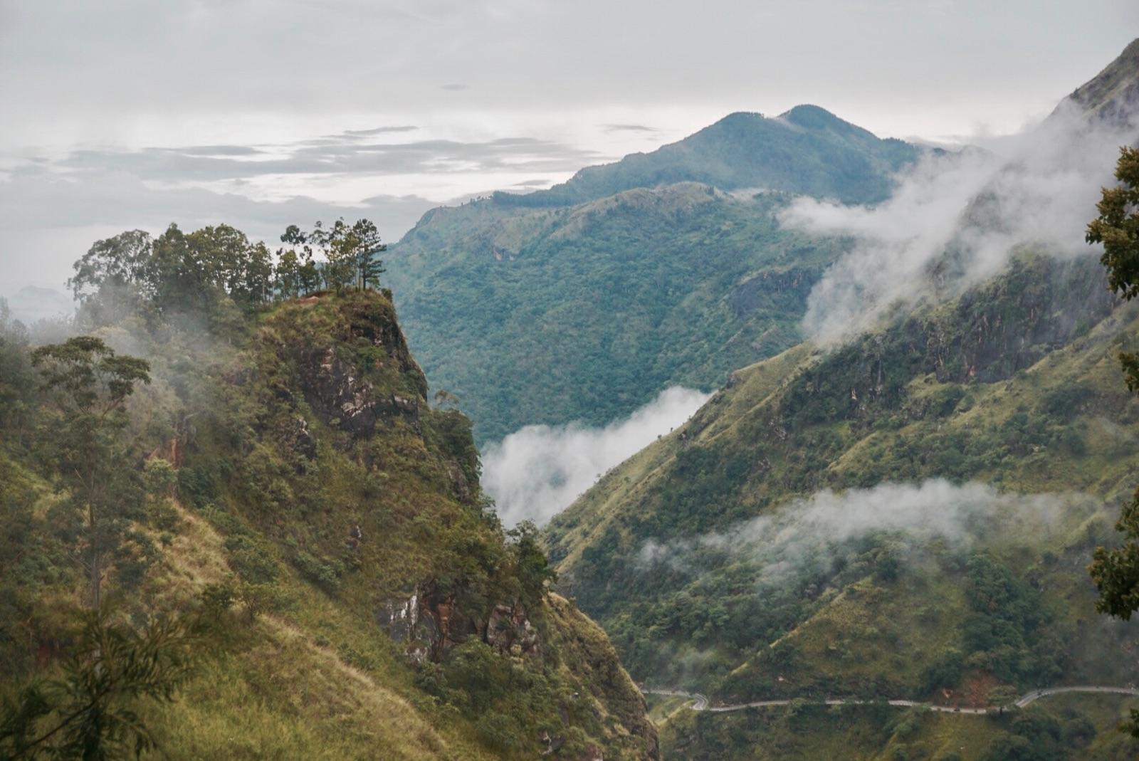 Misty views in Ella, Sri Lanka itinerary