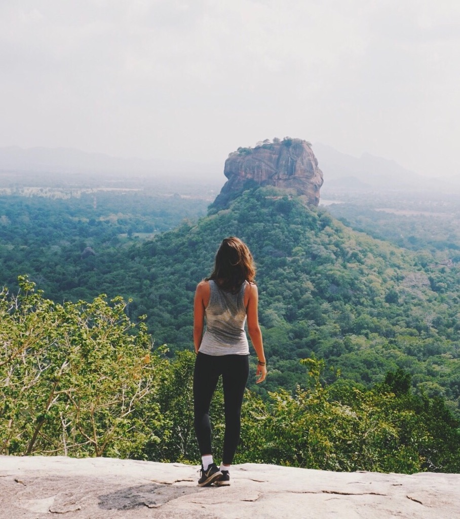 Pidurangala rock hike in sri lanka