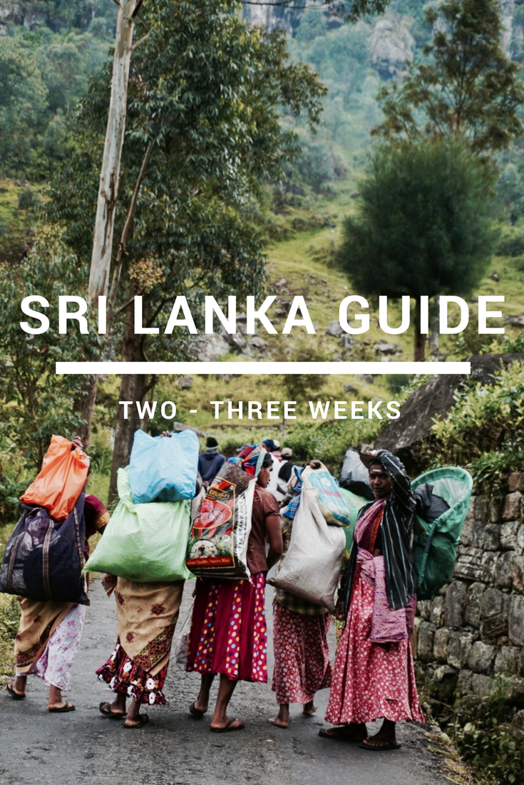 best sri lanka itinerary for 2 or 3 weeks