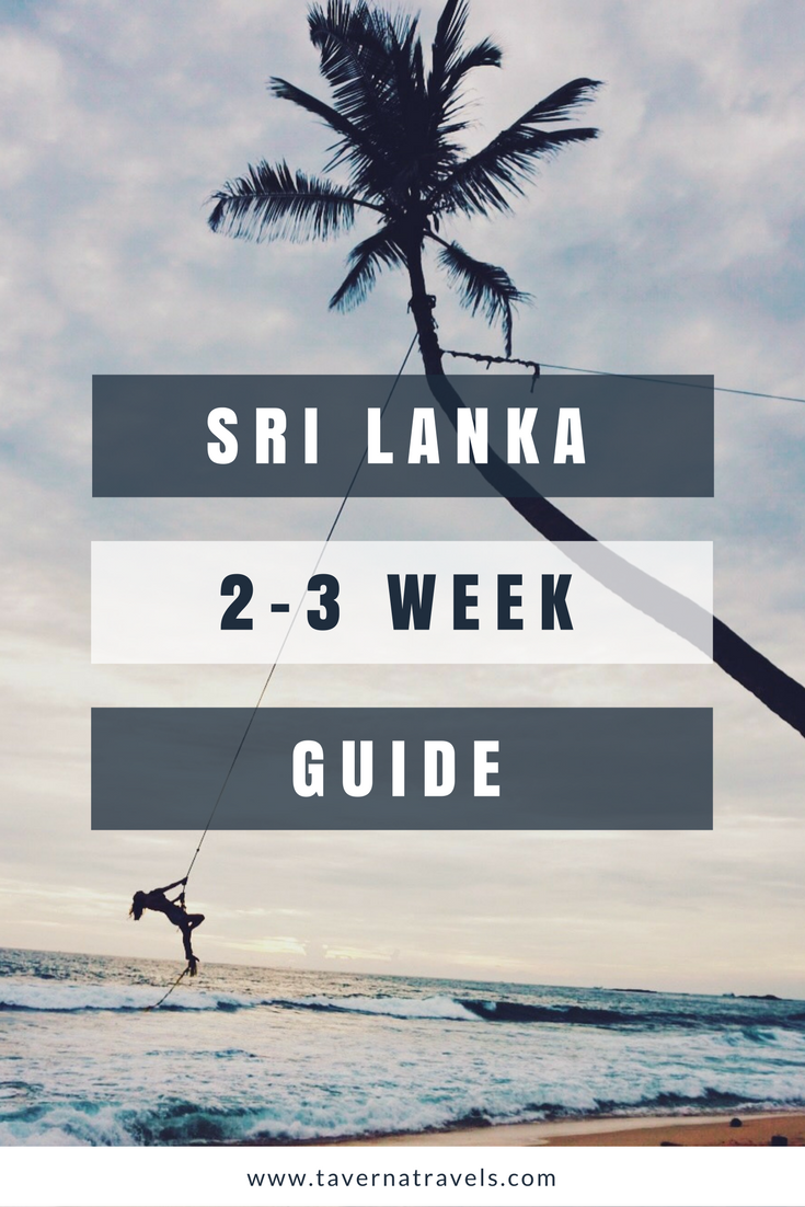 best sri lanka itinerary for 2 weeks